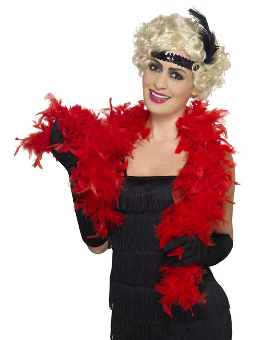 Feather Boa - Red - The Ultimate Balloon & Party Shop