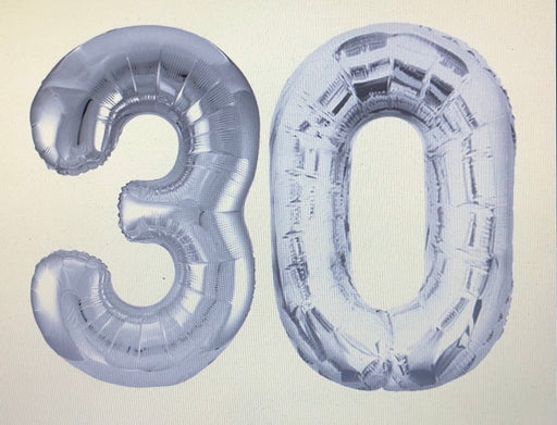 Age 30 Number Foil Balloons - The Ultimate Party Shop