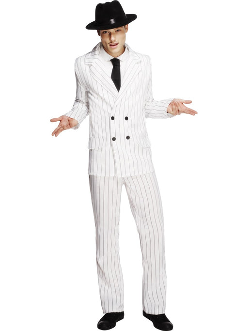 Fever White Gangster Costume - The Ultimate Balloon & Party Shop