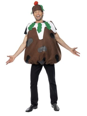 Adult Christmas Pudding Costume - The Ultimate Balloon & Party Shop