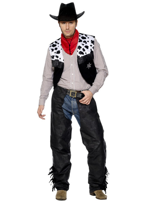 Cowboy Leather Male Costume - The Ultimate Party Shop
