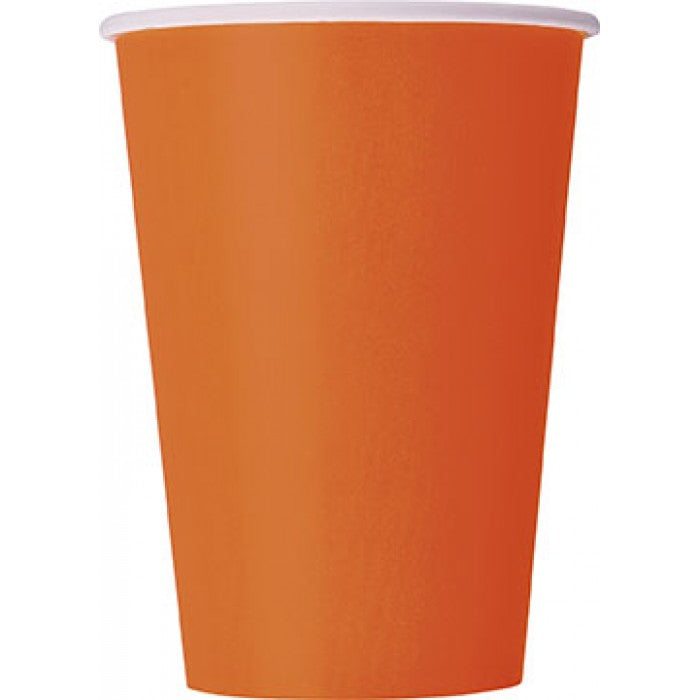 Paper Cups - Orange - The Ultimate Balloon & Party Shop