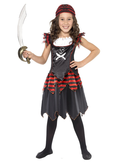 Pirate Skull & Cross Bone Girl Children's Costume - The Ultimate Party Shop