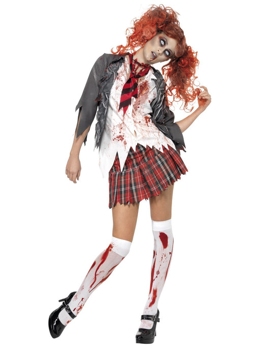 Zombie Schoolgirl Female Costume - The Ultimate Balloon & Party Shop