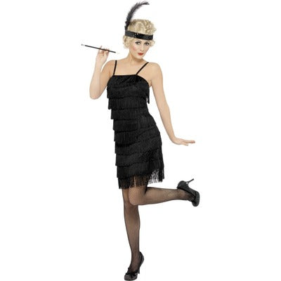 1920s Great Gatsby Fringed Flapper Dress Costume - The Ultimate Balloon & Party Shop