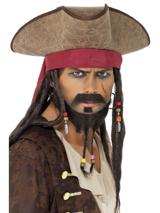 Caribbean Pirate Dreadlock Hat