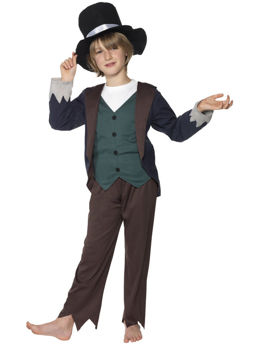 Victorian Poor Boy Child's Costume - The Ultimate Party Shop