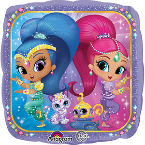 "18"" Foil Shimmer and Shine Printed Balloon - The Ultimate Party Shop"