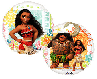 "18"" Foil Moana Printed Balloon - The Ultimate Party Shop"