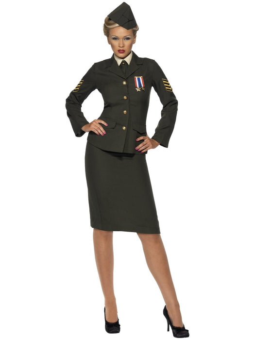 WW2 Wartime Officer Female Costume - The Ultimate Party Shop