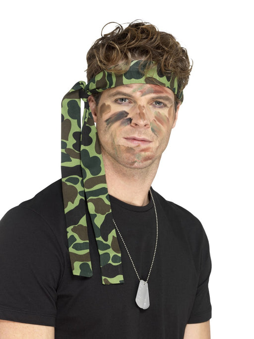Camouflage Print Army Headband - The Ultimate Party Shop