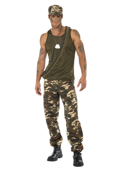 Army Khaki Camo Male Costume - The Ultimate Balloon & Party Shop