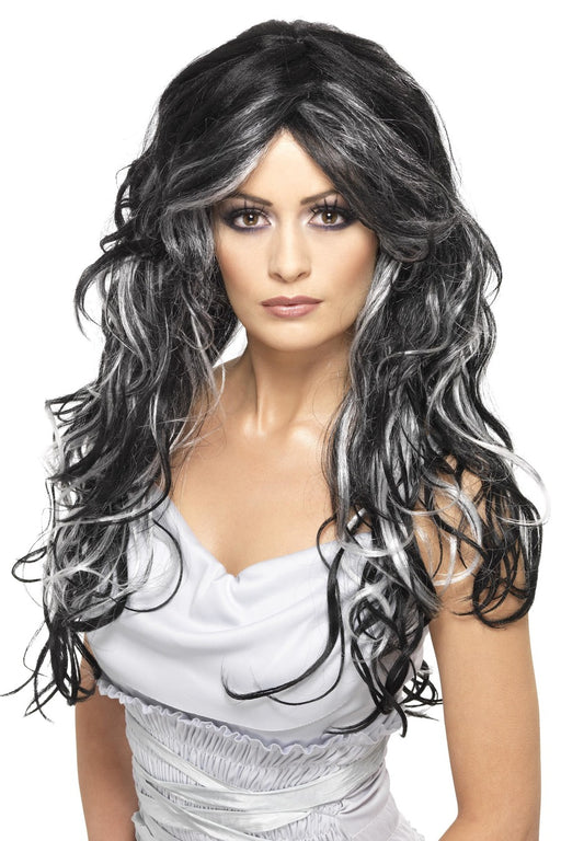 Gothic Bride Wig - Black/White