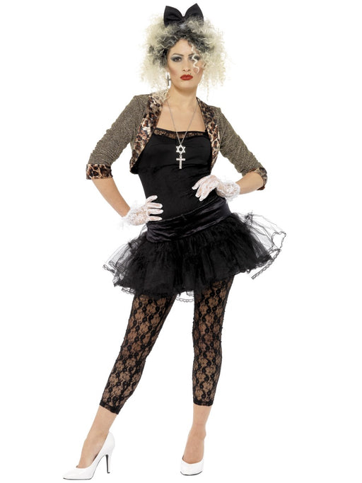 1980's Madonna Wild Child (Black) Costume - The Ultimate Party Shop