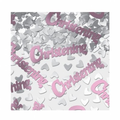 Pink Christening Table Confetti - The Ultimate Party Shop