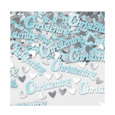 Blue Christening Table Confetti