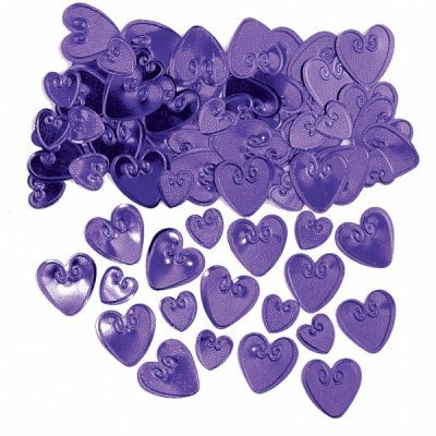 Purple Hearts Table Confetti - The Ultimate Party Shop