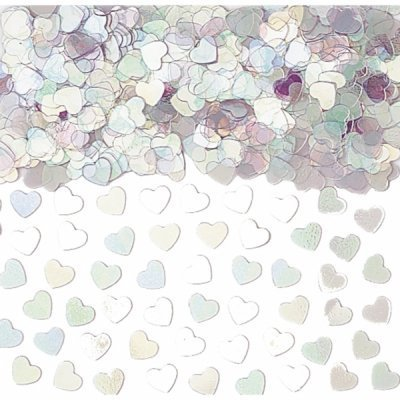 Iridescent Sparkle Hearts Table Confetti