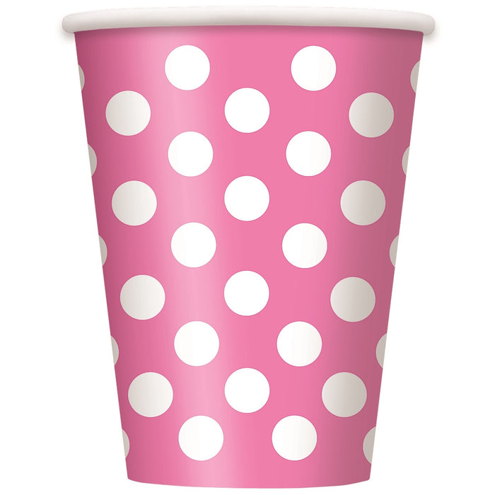 Spotty Paper Cups - Pink