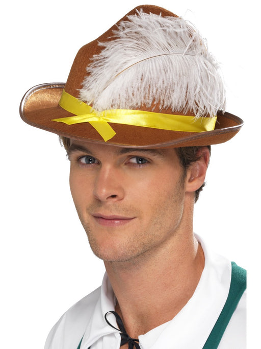 Brown German/Bavarian Style Hat - The Ultimate Party Shop