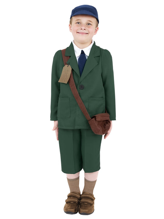 WW2 Evacuee Boy Children's Costume - The Ultimate Party Shop