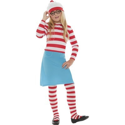 Where's Wally? Wenda Children's Costume - The Ultimate Party Shop