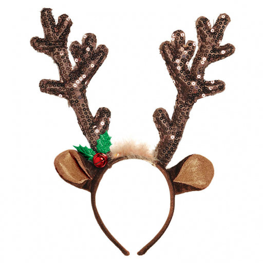 Reindeer Sequin Headband - The Ultimate Balloon & Party Shop