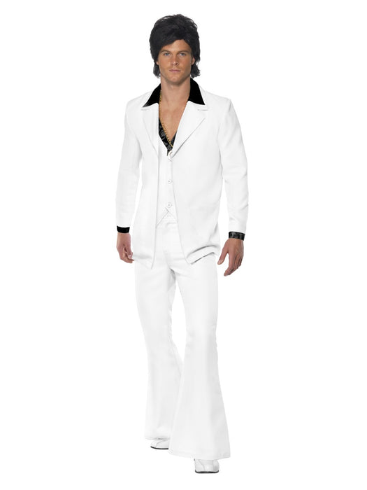 1970's Suit White Costume - The Ultimate Balloon & Party Shop