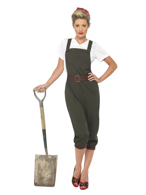 1940's Land Girl Female Costume - The Ultimate Balloon & Party Shop