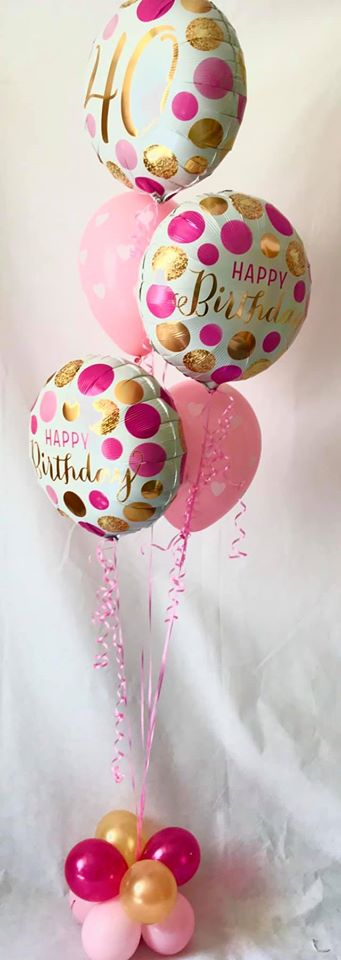 Deluxe Pink Birthday Balloon Display - The Ultimate Party Shop