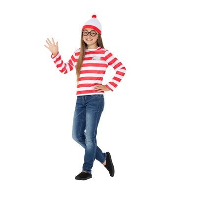 Where's Wally Instant Kit Children's Costume - The Ultimate Balloon & Party Shop