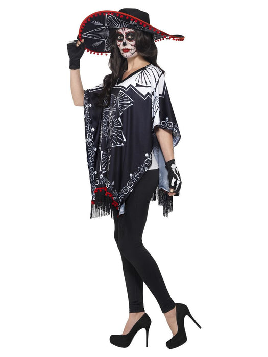 Day Of The Dead Bandit Poncho Set - The Ultimate Balloon & Party Shop
