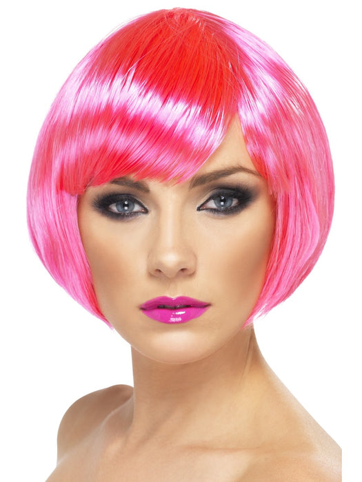 Babe Neon Pink Female Wig - The Ultimate Party Shop