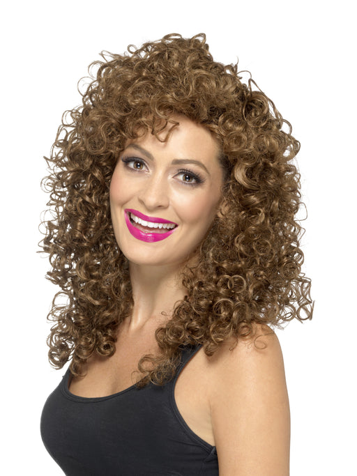 1980s Boogie Babe Wig, Brown