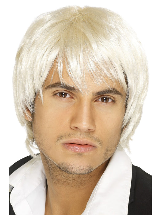 Boy Band Male Blonde Wig