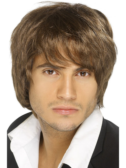 Boy Band Male Brown Wig - The Ultimate Party Shop
