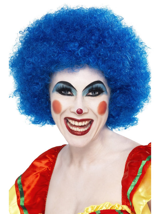Clown Afro Blue Wig