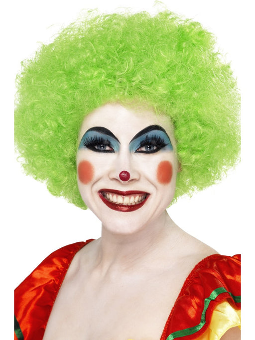 Clown Afro Green Wig