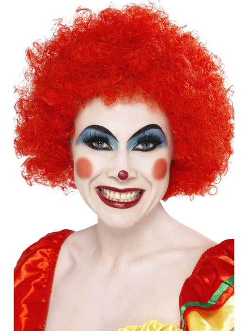 Clown Afro Red Wig