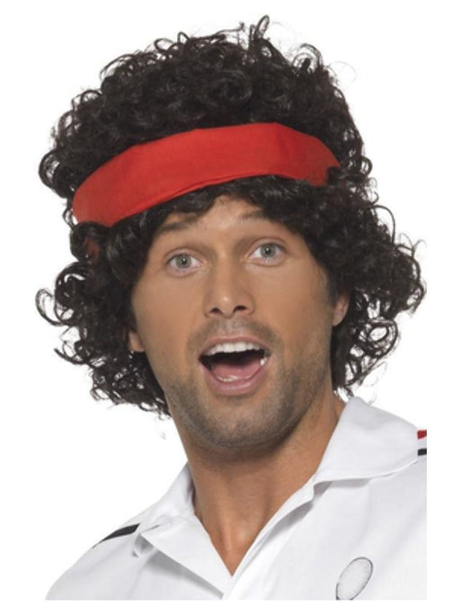 1980's Tennis Player Wig - The Ultimate Balloon & Party Shop