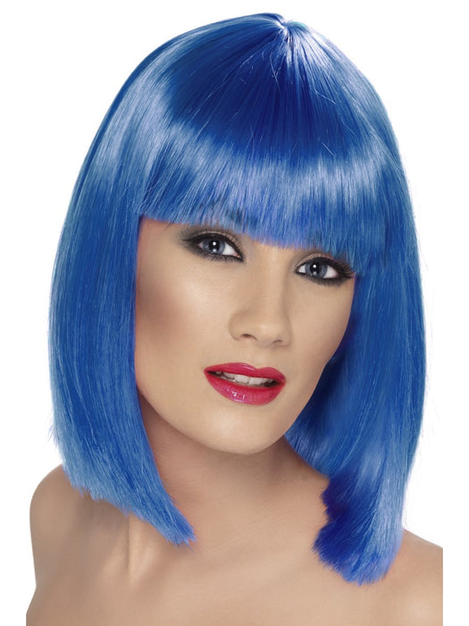 Glam Blue Female Wig - The Ultimate Party Shop