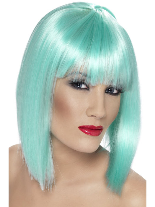 Glam Aqua Female Wig - The Ultimate Party Shop