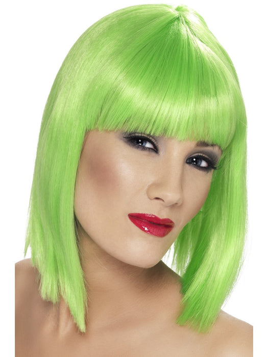 Glam Green Female Wig