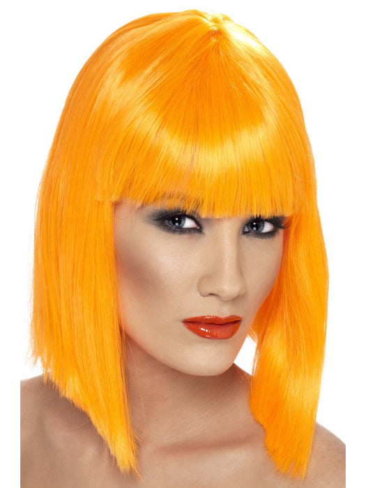 Glam Orange Female Wig - The Ultimate Balloon & Party Shop