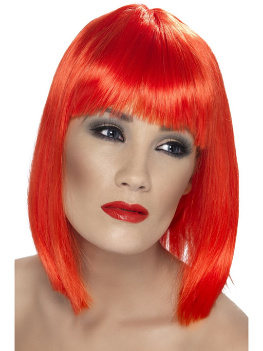 Glam Red Female Wig - The Ultimate Party Shop