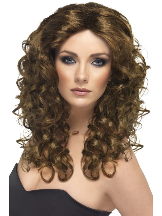 Glamour Brown Female Wig - The Ultimate Party Shop