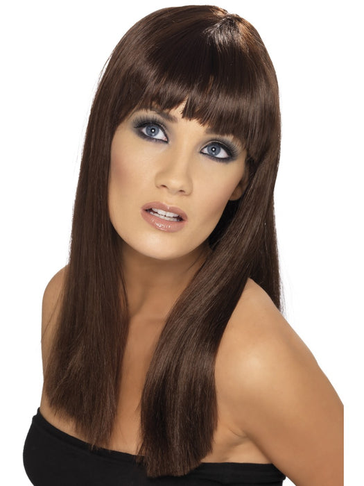 Glamourama Brown Female Wig