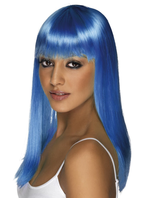 Glamourama Blue Female Wig - The Ultimate Party Shop