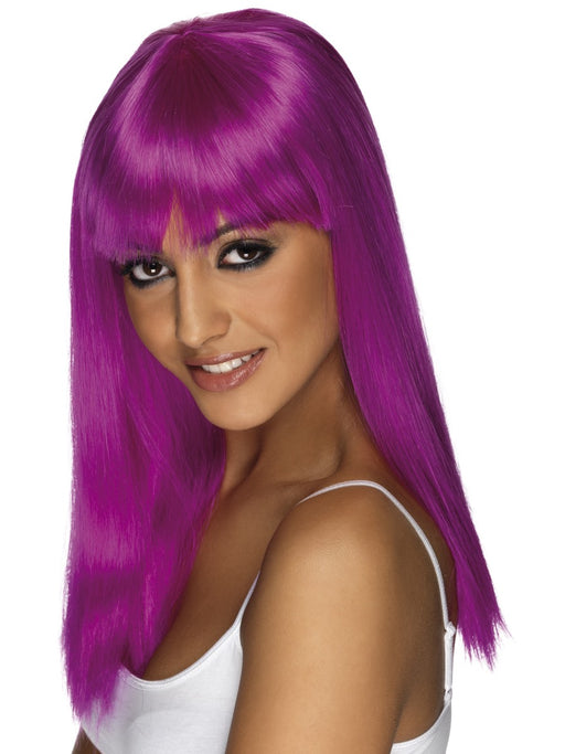 Glamourama Purple Female Wig - The Ultimate Balloon & Party Shop