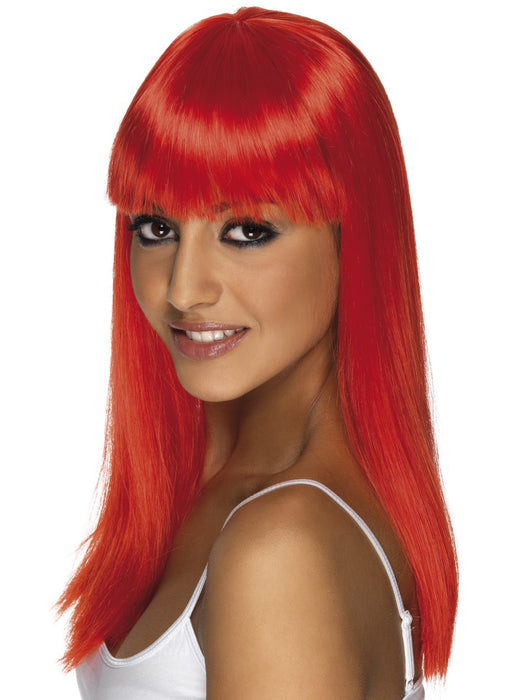 Glamourama Red Female Wig - The Ultimate Party Shop